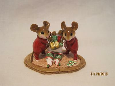 Wee Forest Folk M-329 Two for One - Christmas WFF Retired in WFF Box