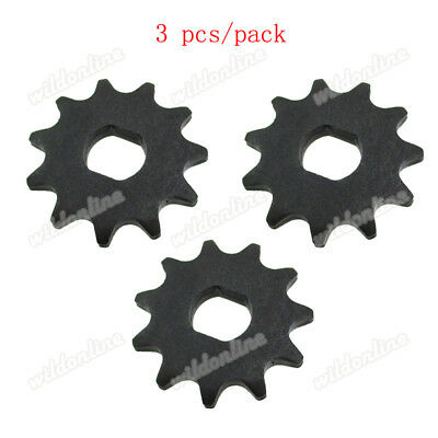 11 Tooth Sprocket D-bore, use #25 chain for electric scooter motors