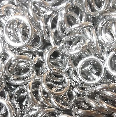 1000 Jump Rings 5/16 inch ID 14g AWG Bright Aluminum Chainmail