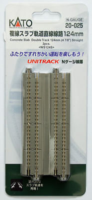 "Kato 20-025 Concrete Slab Double Track 124mm (4 7/8"") Straight WS124S (N scale)"