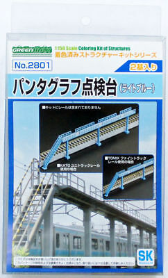 Greenmax No.2801 Train Pantograph Inspection Stand (Light Blue) (1/150 N scale)