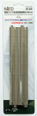 "Kato 20-006 Concrete Slab Double Track 248mm (9 3/4"") Straight WS248S (N scale)"
