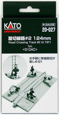 "Kato 20-027 124mm (4 7/8"") Road Crossing Track #2 S124C  (1 piece) (N scale)"