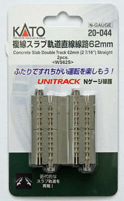 "Kato 20-044 Concrete Slab Double Track 62mm (2 7/16"") Straight WS62S (N scale)"