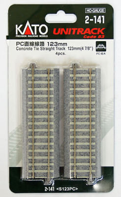 "Kato 2-141 Concrete Tie 123mm (4 7/8"") Straight Track S123PC (HO scale)"