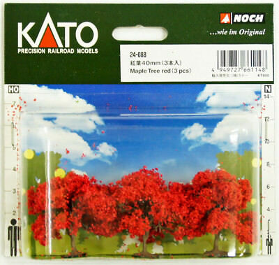 Kato 24-088 Maple Trees (red) 3pcs 40mm (Scenery Trees) (N scale)