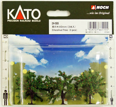 Kato 24-089 Chestnut Trees 3pcs 40mm (Scenery Trees) (N scale)
