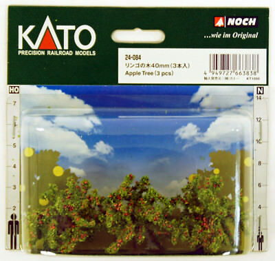 Kato 24-084 Apple Trees 3pcs (N scale Scenery Trees) (N scale)