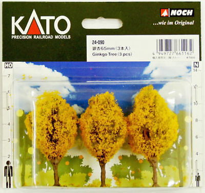 Kato 24-090 Ginkgo Trees 3pcs 65mm (Scenery Trees) (N scale)