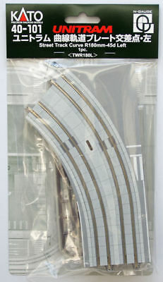 Kato 40-101 UNITRAM Street Track Curve R180mm-45d Left (N scale)