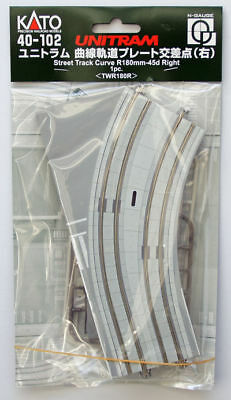 Kato 40-102 UNITRAM Street Track Curve R180mm-45d Right  (N scale)