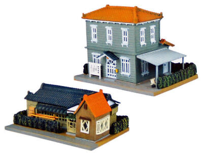 Tomytec (Building 109-3) Ranch Home & 2 Level Colonial C 1/150 N scale