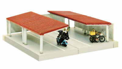 Tomytec (Komono 095) Parking Lot for Bicycles A (Red Roof) 1/150 N scale