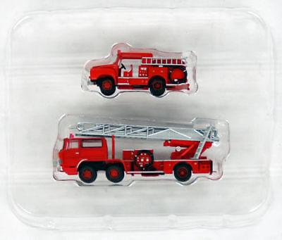"Tomytec The Truck Collection ""Fire Pump & Ladder Truck Set"" 1/150 N scale 284277"