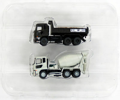 Tomytec The Truck Collection Dump Truck & Mixer Truck Set B 1/150 N scale