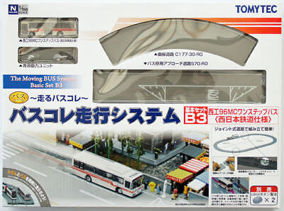Tomytec Moving Bus System Basic Set B3 (Red Bus) 1/150 N scale
