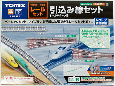 Tomix 91025 Fine Track Rail Set Sidetrack Set (Track Layout Pattern B) (N scale)