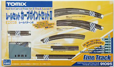 Tomix 91095 Curved Electric Turnout Track Set Track Layout Pattern E (N scale)