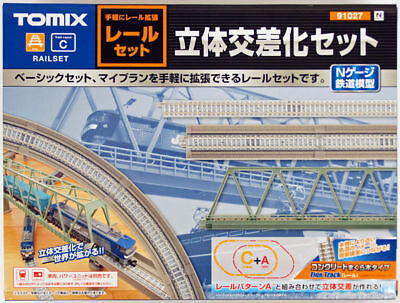 Tomix 91027 Single Track Bridge Approach Set Track Layout Pattern C (N scale)
