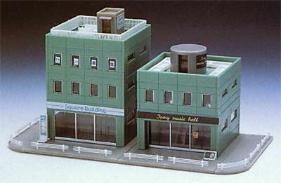 Tomix 4050 Square Building Set (Green) (N scale)