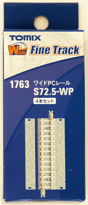 Tomix 1763 Wide PC 72.5mm Straight Track S72.5-WP(F) (4 pcs.) (N scale)