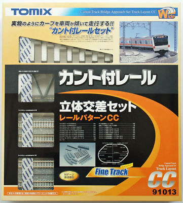 Tomix 91013 Canted Track Bridge Approach Set Track Layout Pattern CC (N scale)