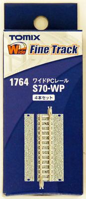 Tomix 1764 Wide PC 70mm Straight Track S70-WP(F) (4 pcs.) (N scale)