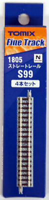 Tomix 1805 99mm Straight Tracks S99(F) (4 pieces) (N scale)