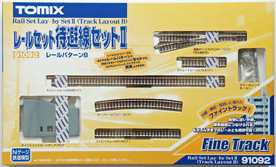 Tomix 91092 Mainline Passing Electric Turnout Track Set (Pattern B) (N scale)