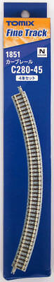 Tomix 1851 280mm Radius 45º Curve Track C280-45 (4 Pieces) (N scale)