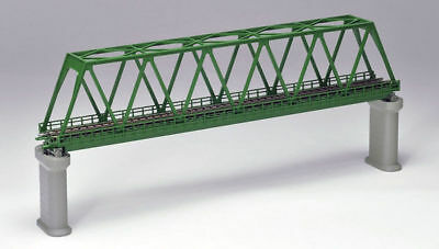 Tomix 3033 Truss Bridge Set w/ 2 Concrete Piers (Dark Green) (N scale)