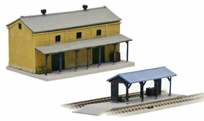Tomytec (Building 022-3) Rural Station Set C3 with Warehouse 1/150 N scale