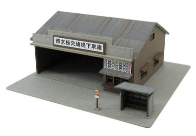 Sankei MP01-75 Bus Garage with Bus Stop 1/220 Z scale
