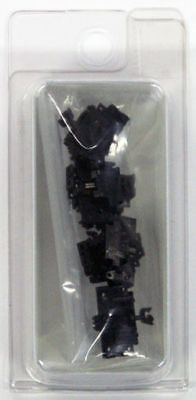 """Tomix 0374 Coupler """"TN"""" Tight Coupling SP Black (6 Pcs) (N scale)"""