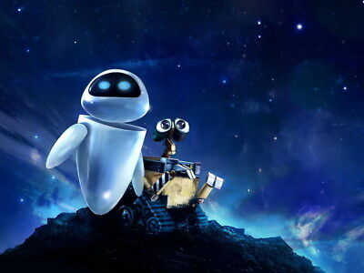 "013 WALL E - Pixar Eve Space Adventure Cartoon Movie 32""x24"" Poster"