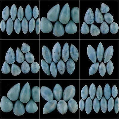 Genuine Larimar Cabochon Loose Gemstone Blue Larimar Natural Gemstone Cabs Lot