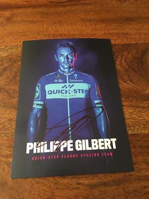 CYCLISME wielrennenn CARTE Dedicacee PHILIPPE GILBERT   Team Quick Step  2018