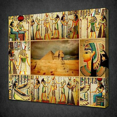 Ancient Egyptian Gods Papyrus Canvas Picture Print Wall Art Free Fast Delivery