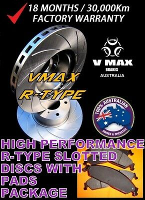 R SLOT fits HOLDEN Astra TR GL 1.8 2.0L 1996-1998 FRONT Disc Brake Rotors & PADS