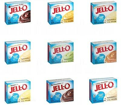 3 x Sugar Free Jello Jell-O Pudding Desserts, Low Carb, Atkins, Diabetic