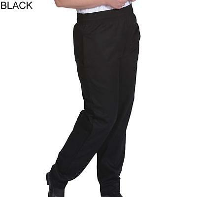 New Men Contemporary Black Baggy Chef Pants Size XS-6XL