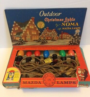 Vintage noma outdoor christmas lights 1936 tested 3005 made in usa vintage noma outdoor christmas lights 1936 tested 3005 made in usa aloadofball Image collections