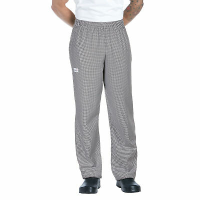 New Men Contemporary Black//White Stripe Baggy Chef Pants