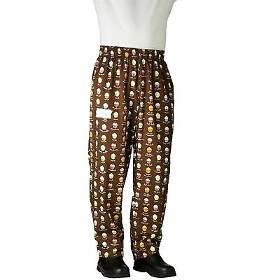 New Men Contemporary Cupcake Baggy Chef Pants 100% Cotton Size XS-6XL