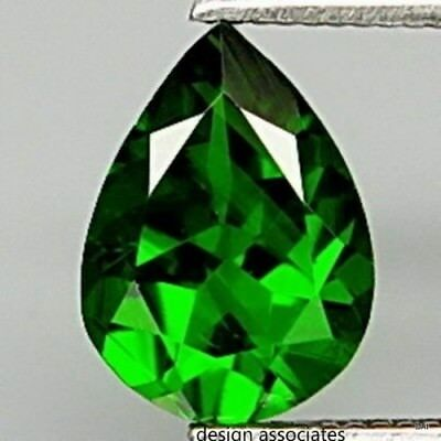 CHROME DIOPSIDE 10 x 7 MM PEAR CUT OUTSTANDING GREEN COLOR ALL NATURAL