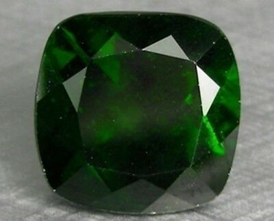 Chrome Diopside 12 Mm Cushion Cut Outstanding Green Color All Natural