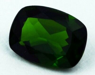 CHROME DIOPSIDE 12 x 10 MM CUSHION CUT OUTSTANDING COLOR ALL NATURAL