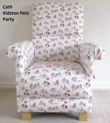Cath Kidston Pets Party Fabric Adult Chair Hamsters Vintage Retro Armchair Mice