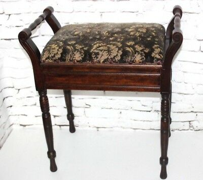 Antique Victorian Mahogany Piano Dressing Stool - FREE Shipping [PL4301]