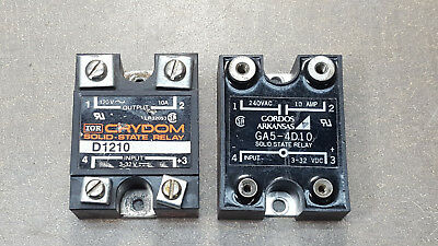 Lot of 2 GORDOS&CRYDON, GA5-4D10+ D1210 SOLID STATE RELAY, 120/240V, 10A. 3-32DC